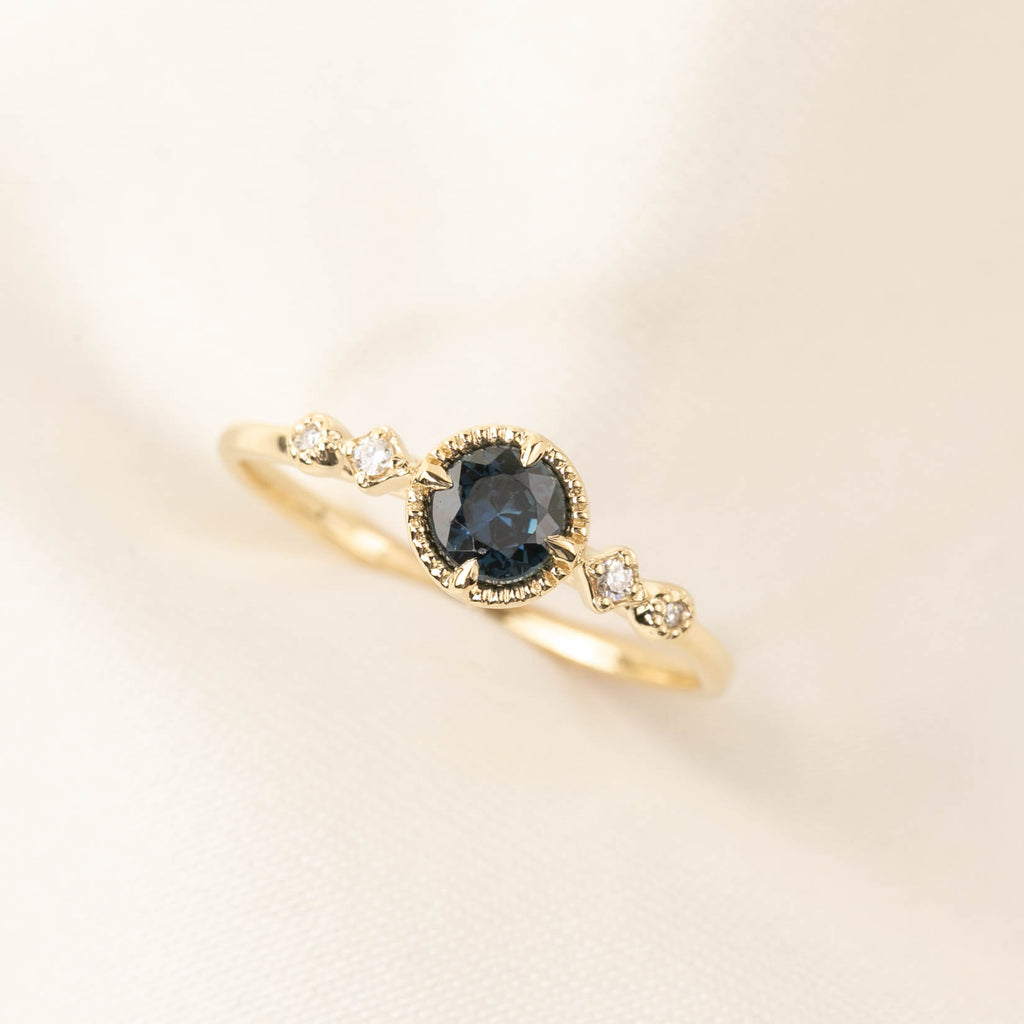 Stella Ring - 0.39ct Teal Sapphire (One of a kind)