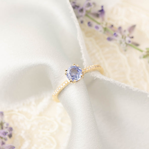 Sabrina Ring - Ceylon Blue Sapphire (one of a kind)