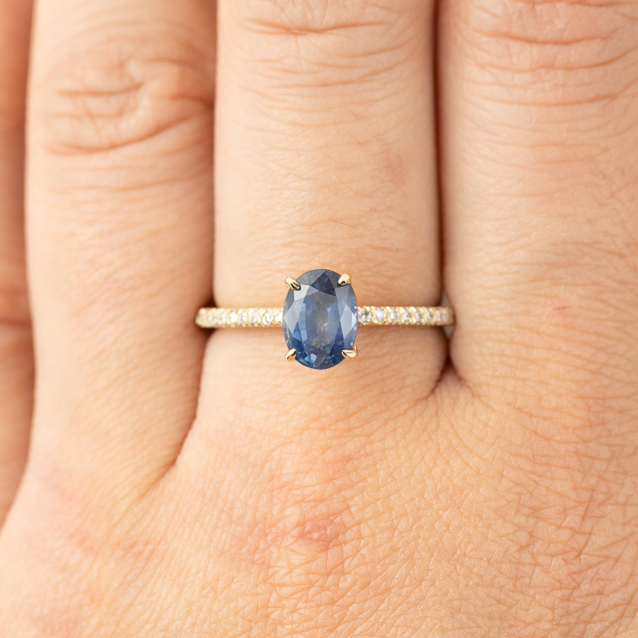 Maria Ring - 1.52ct Misty Blue Sapphire (One of a kind)