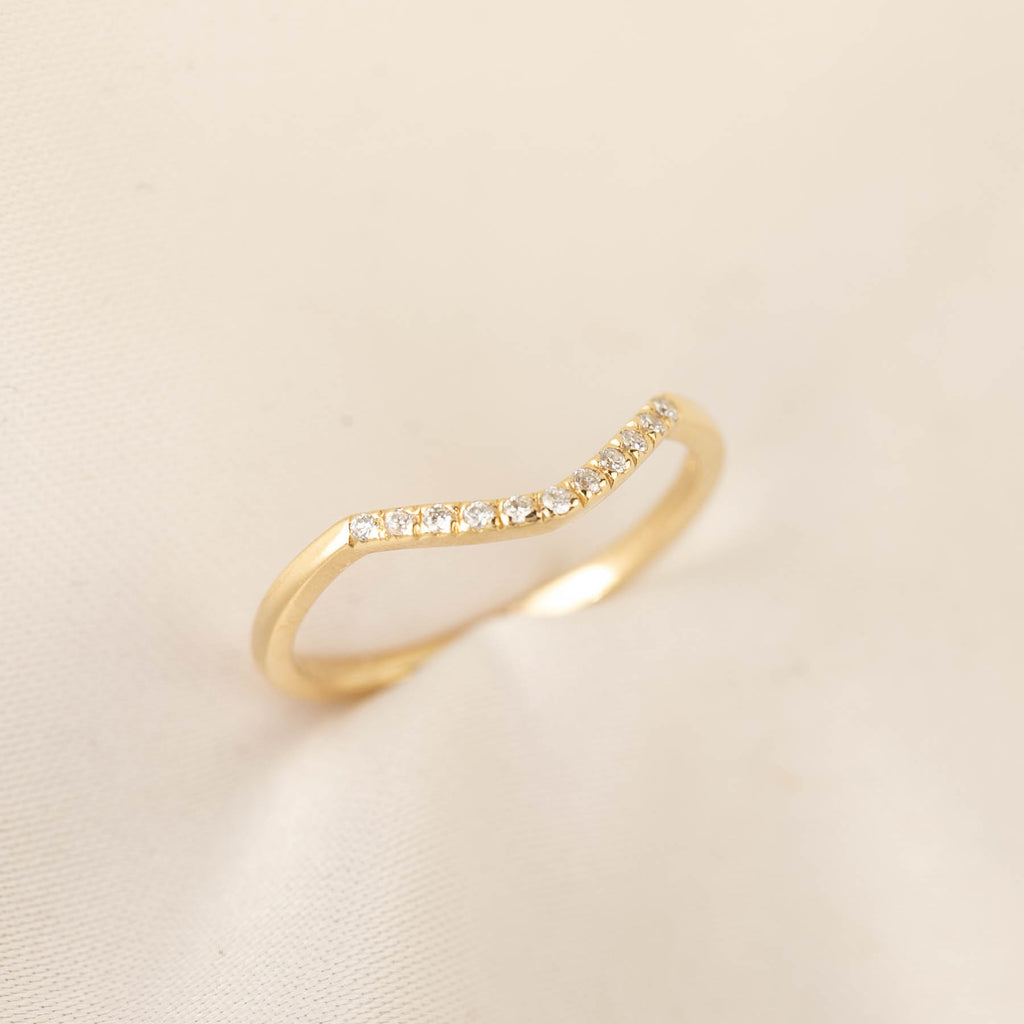 Esperanza - Micro Pave Diamond Classic Curved Band