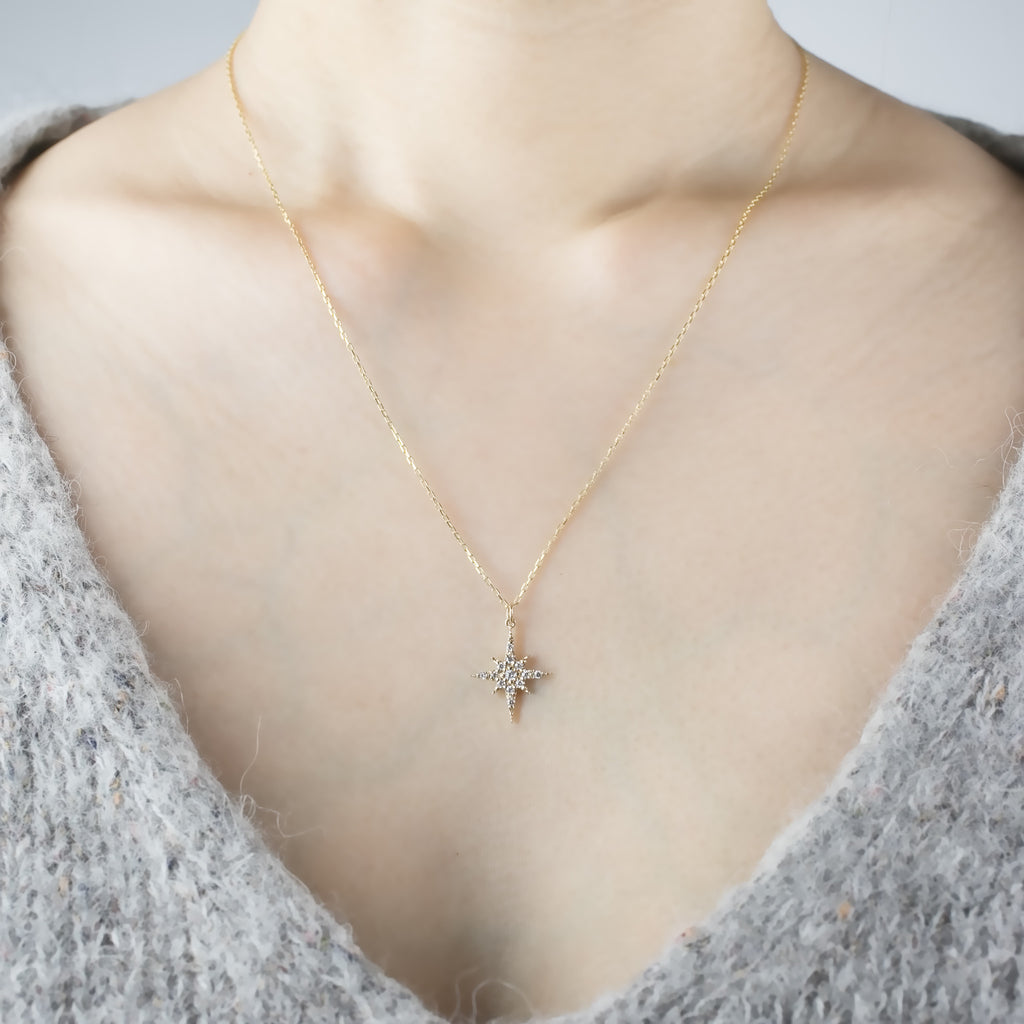 Starburst Diamond Pave Necklace