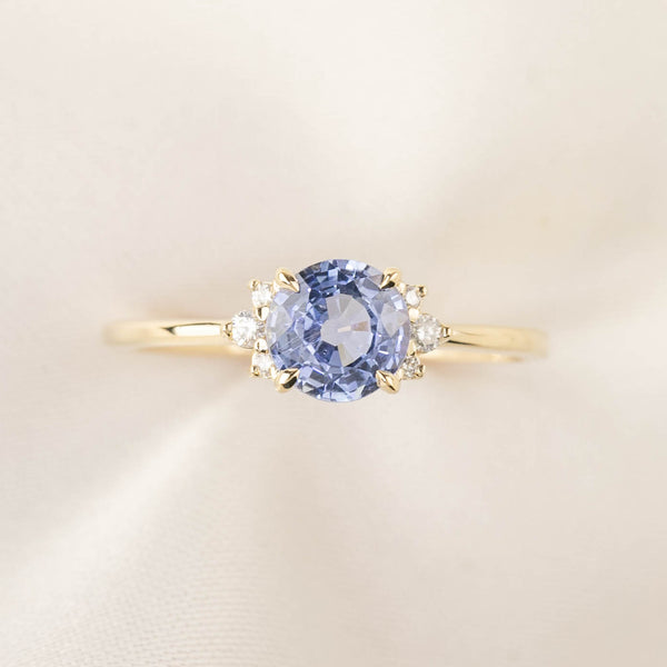 Lena Ring -1ct Ceylon Blue Sapphire (One of a kind)