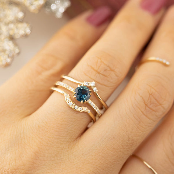 Sabrina Ring - 0.86ct Queensland Teal Sapphire (One of a kind)