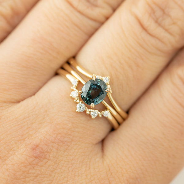 Nina Ring -1.39ct Peacock Sapphire (One of a kind)