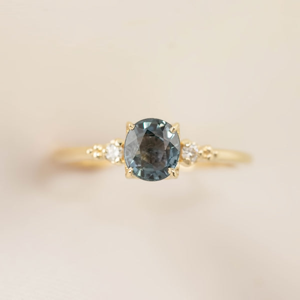 Estel Ring - 1.2ct Teal Sapphire (One of a kind)