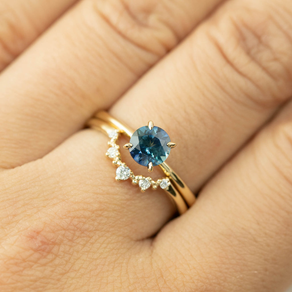 Jane Ring -1.19ct Teal Blue Montana Sapphire (One of a kind)