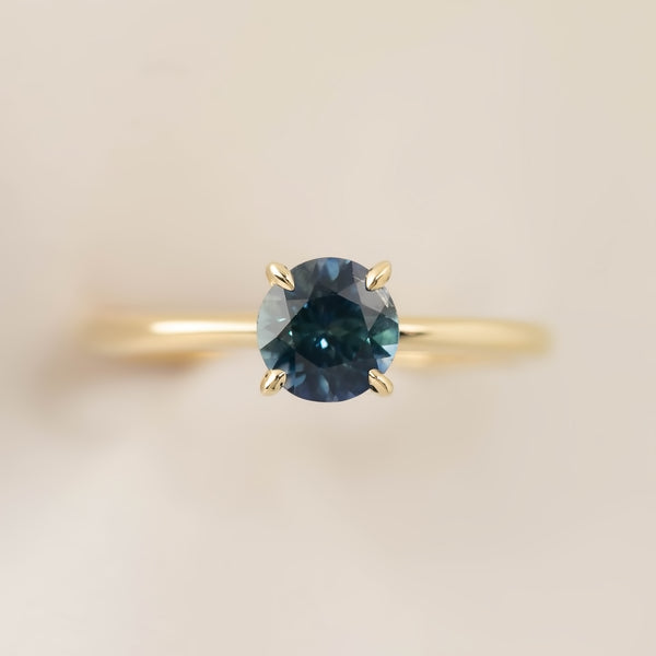 Jane Ring -1ct Teal Blue Montana Sapphire (One of a kind)