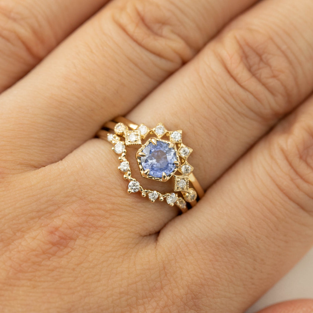 Stella Ring - 1ct Ceylon Blue Sapphire (One of a kind)