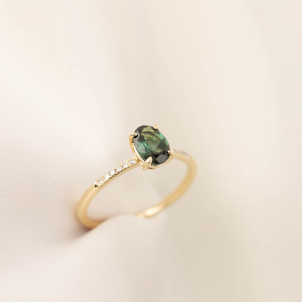 Audrey Ring -0.77ct Green Tourmaline (One of a kind)