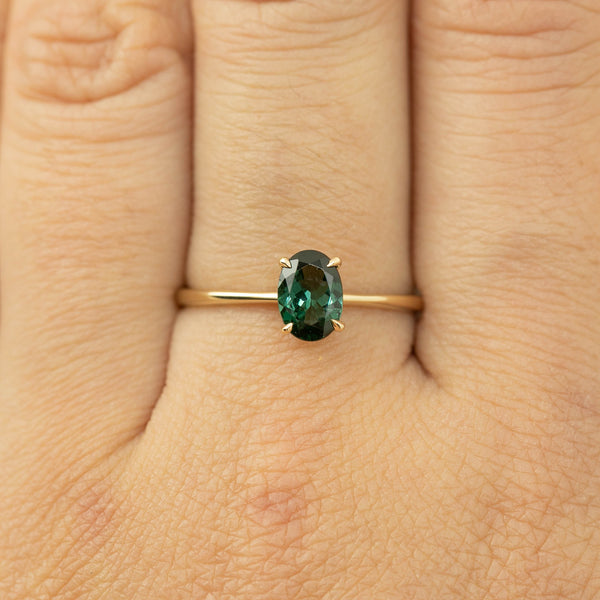 Nina Ring -0.76ct Green Tourmaline (One of a kind)