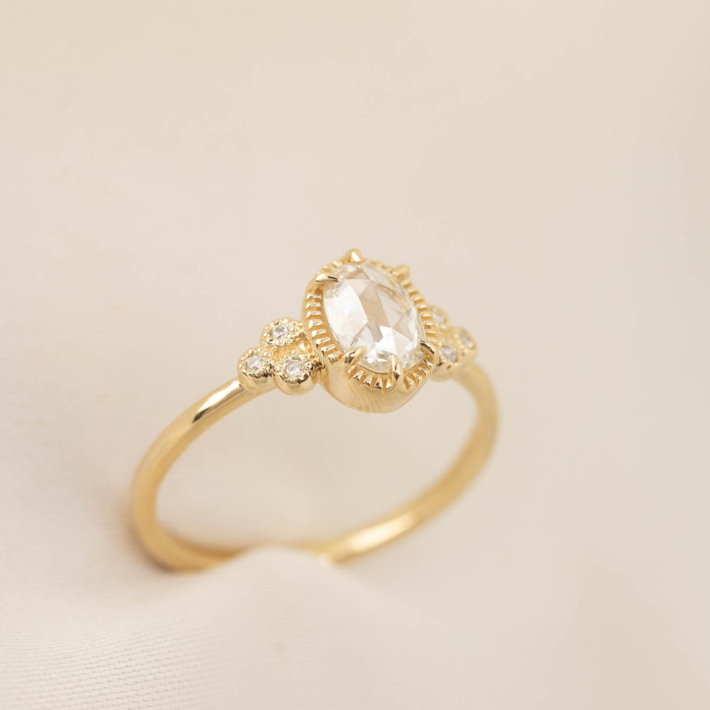 Celine Ring - 0.3ct - 0.6ct Rose Cut Diamond (One of a Kind)