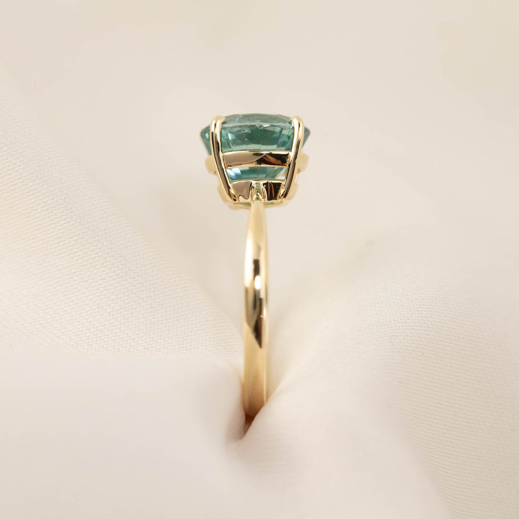 Nina Ring -5ct Blue Zircon (One of a kind)