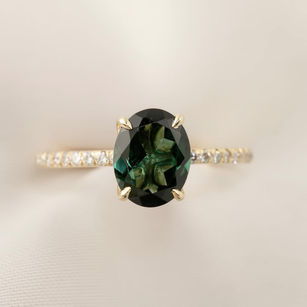 Maria Ring - 1.96ct Green Tourmaline (One of a kind)