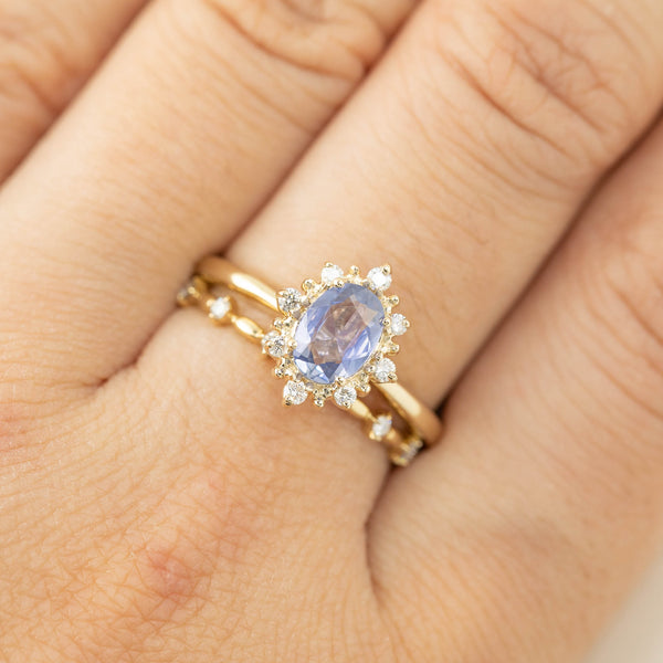 Victoria RIng - 0.85ct Unheated Blue Sapphire (one of a kind)
