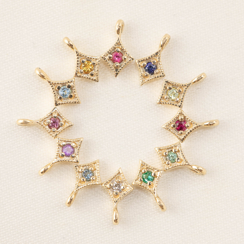 Birthstone Star Charm (Add-ons)
