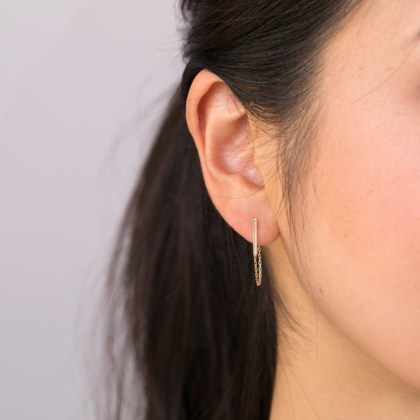 Bar Chain Dangle Earrings