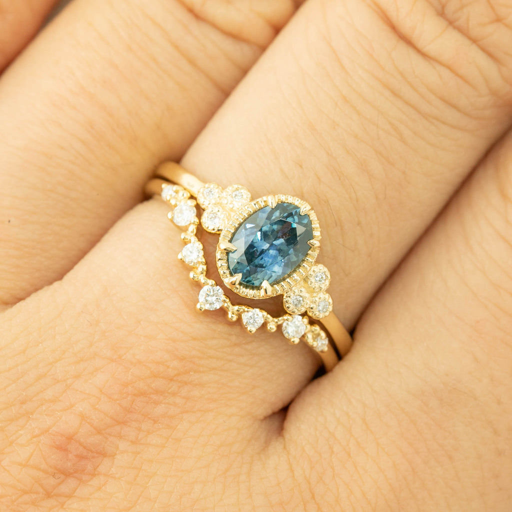 Celine Ring - 0.94ct Montana Sapphire (One of a kind)