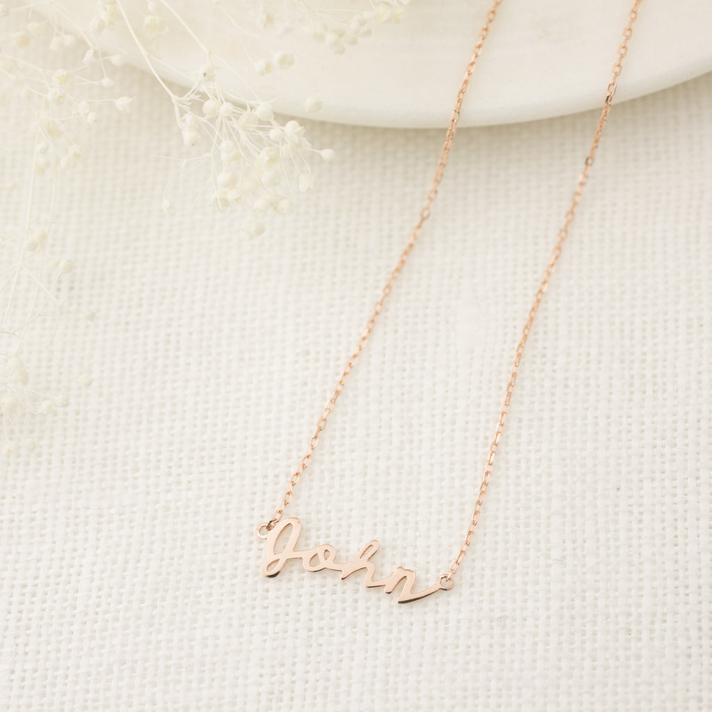 Custom Script Name Necklace
