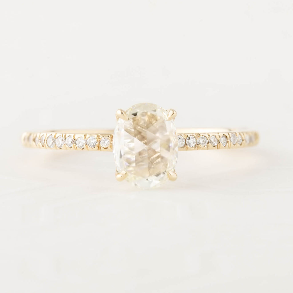Maria Ring - 0.85ct GIA Certified Rose Cut Diamond (One of a kind)