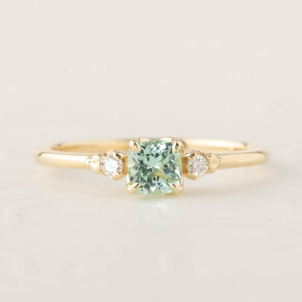 Estel Ring - 4.5mm Natural Mint Tourmaline (One of a kind)