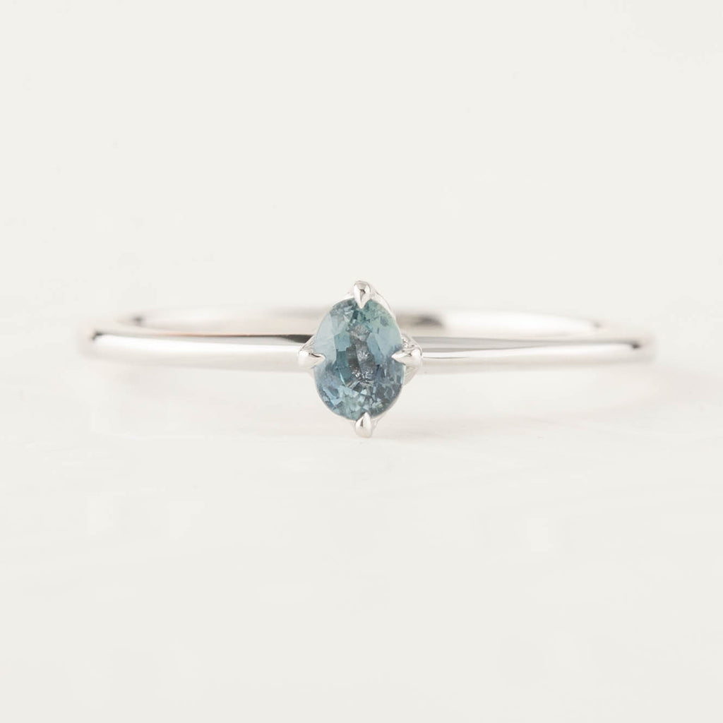 Alice Ring - 0.25ct Blue-Green Sapphire