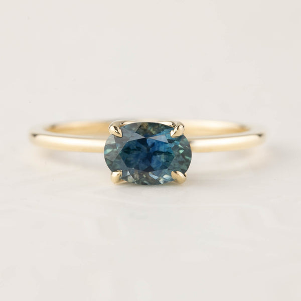 Sara Ring - 1.00ct Parti Blue Green Montana Sapphire (One of a kind)