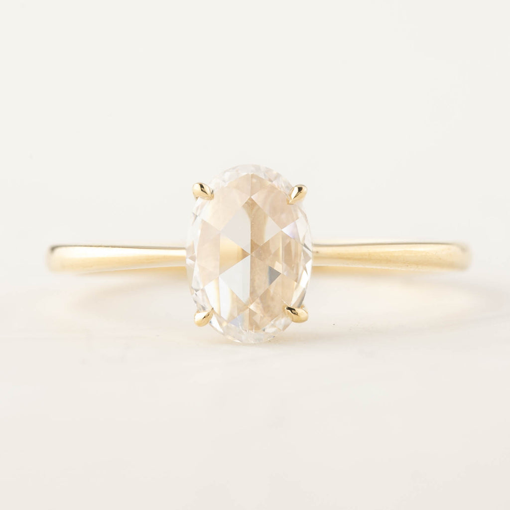 Nina Ring - GIA Certified 0.64ct Rose Cut Diamond (One of a kind)