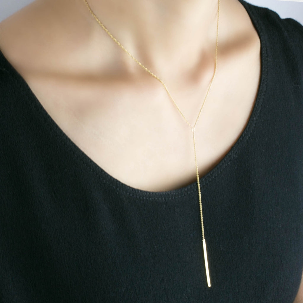 Drop Bar Lariat Necklace