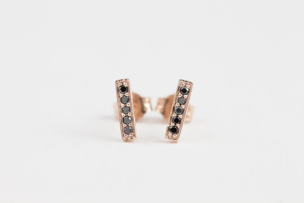 Bar Studs - Black Diamond