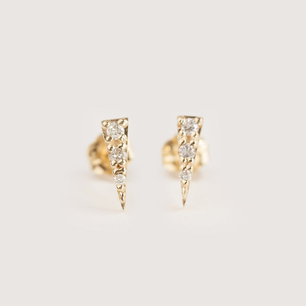 Diamond Spike Stud Earrings
