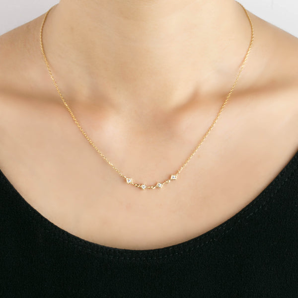Star Diamond Multi Necklace