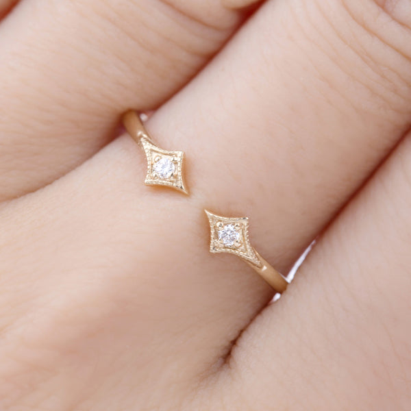 Double Star Diamond Ring