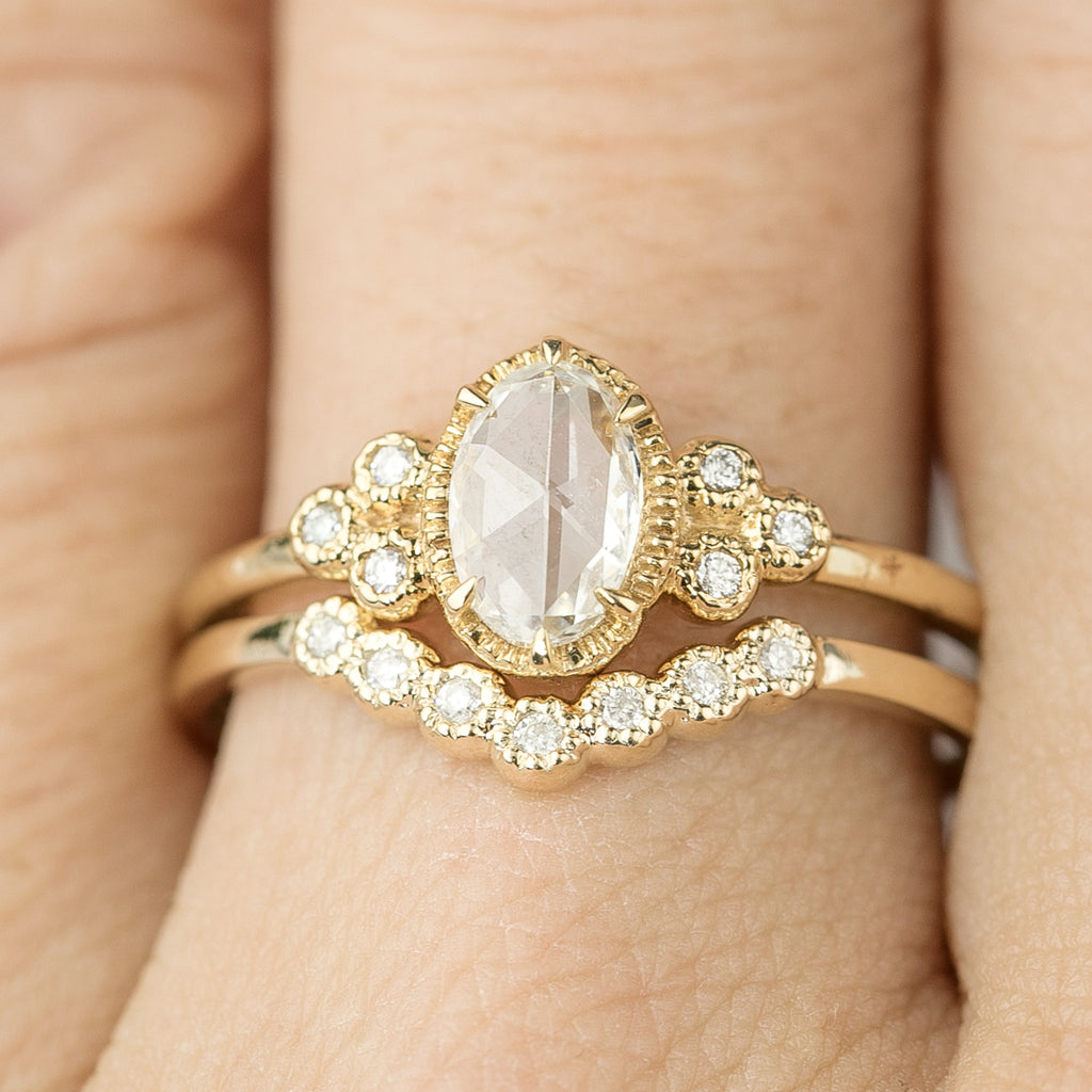 Dahlia Curved Ring
