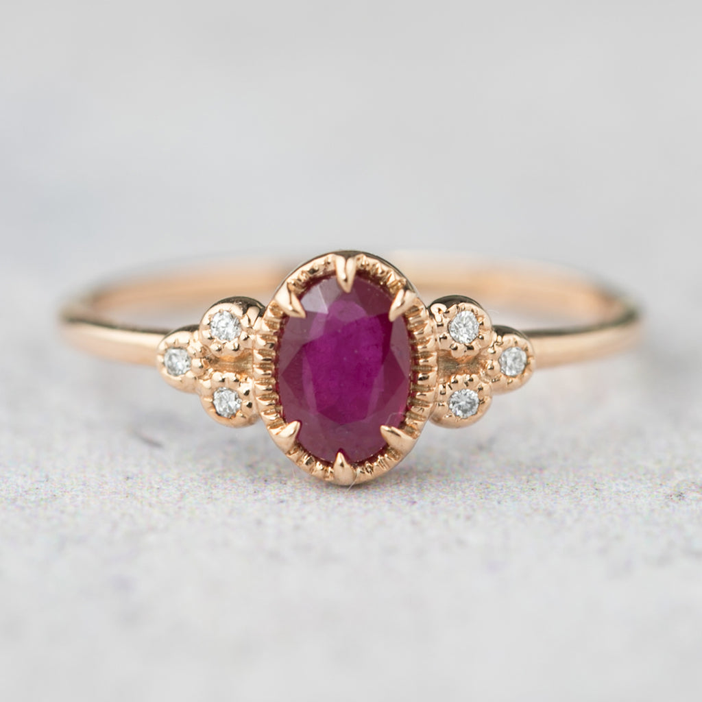 Celine Ring Oval Ruby