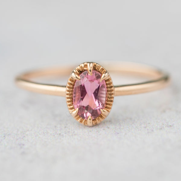 Ava Ring - Oval Pink Tourmaline