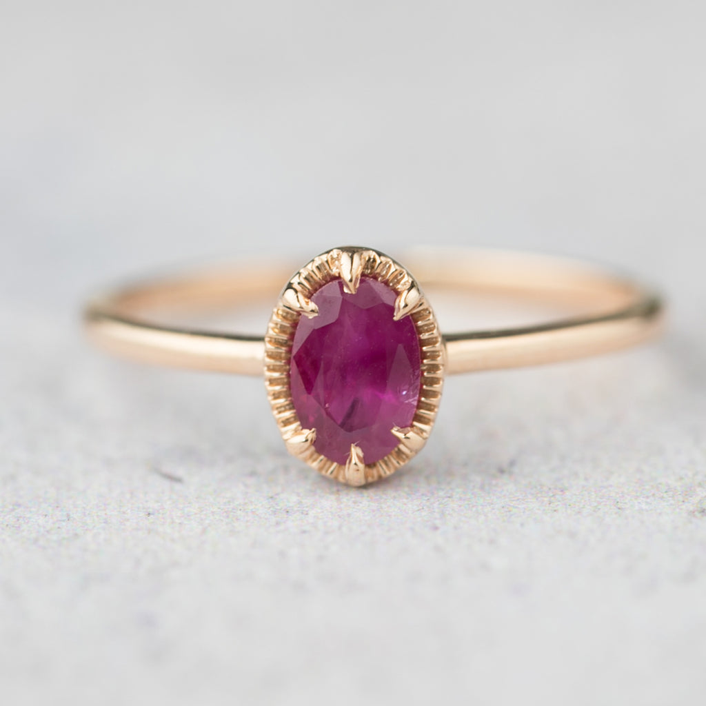 Ava Ring Oval Ruby