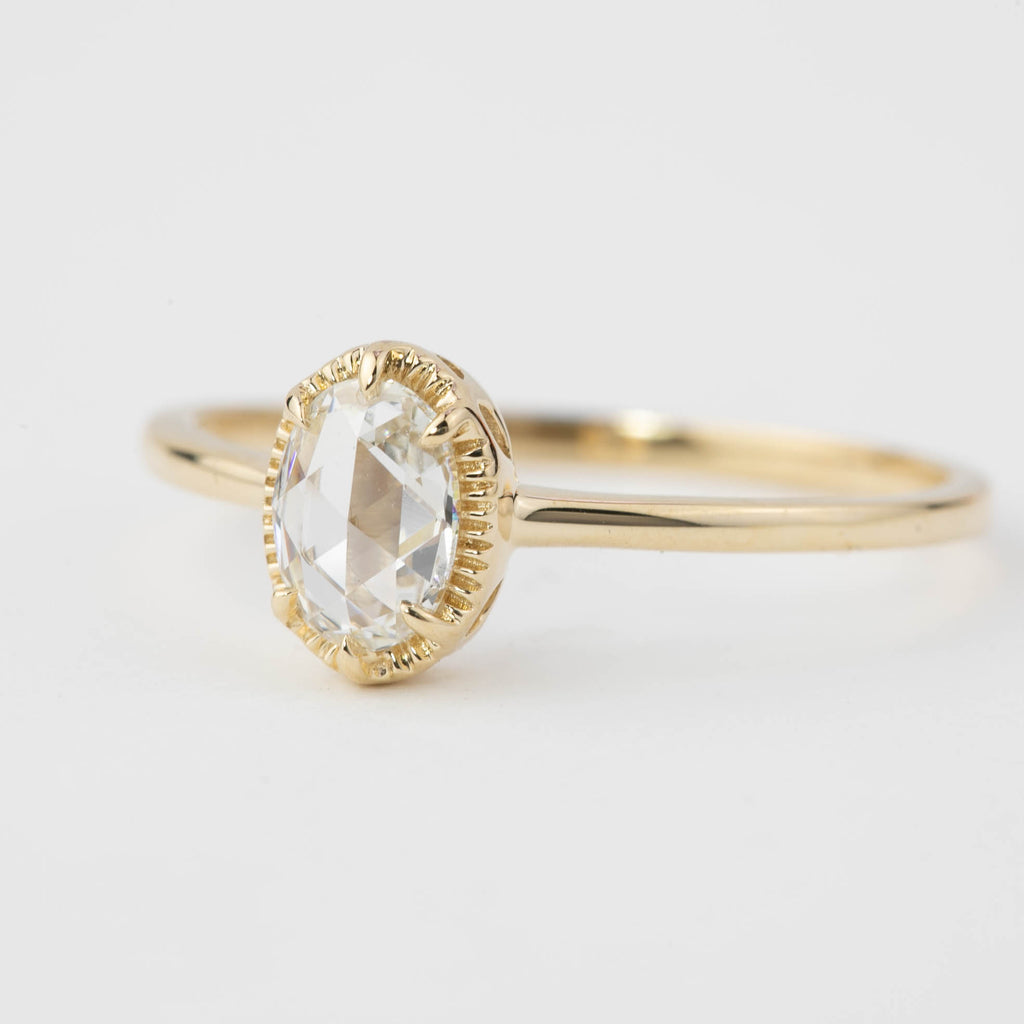 Ava Ring - 1/2ct Oval Rose Cut Diamond