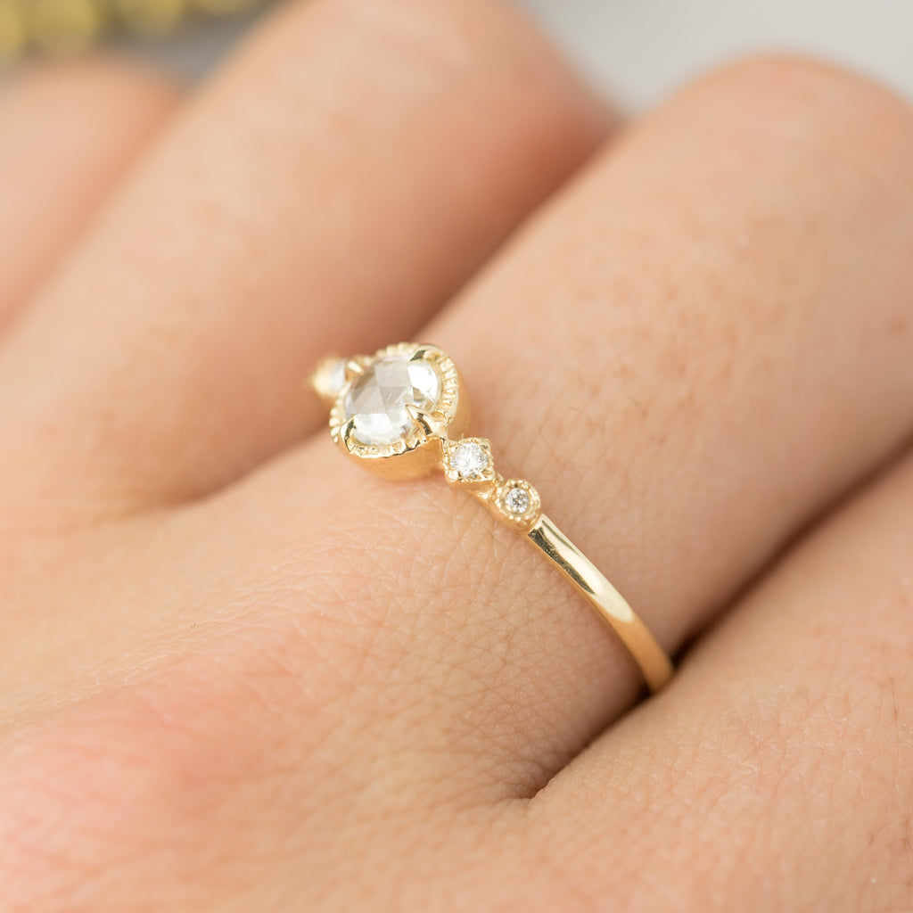 Stella Ring - 4.5mm Rose Cut Diamond