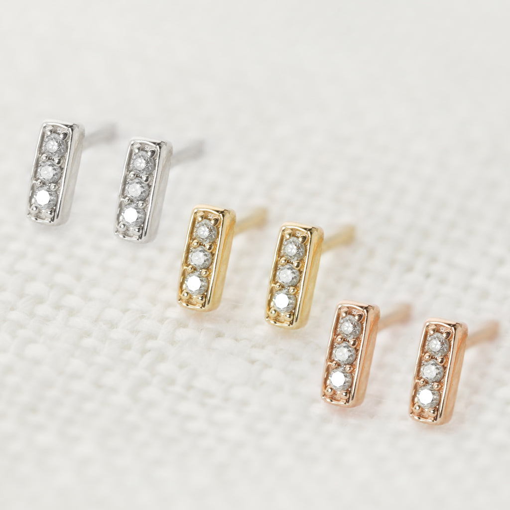 Bar Studs - Diamond