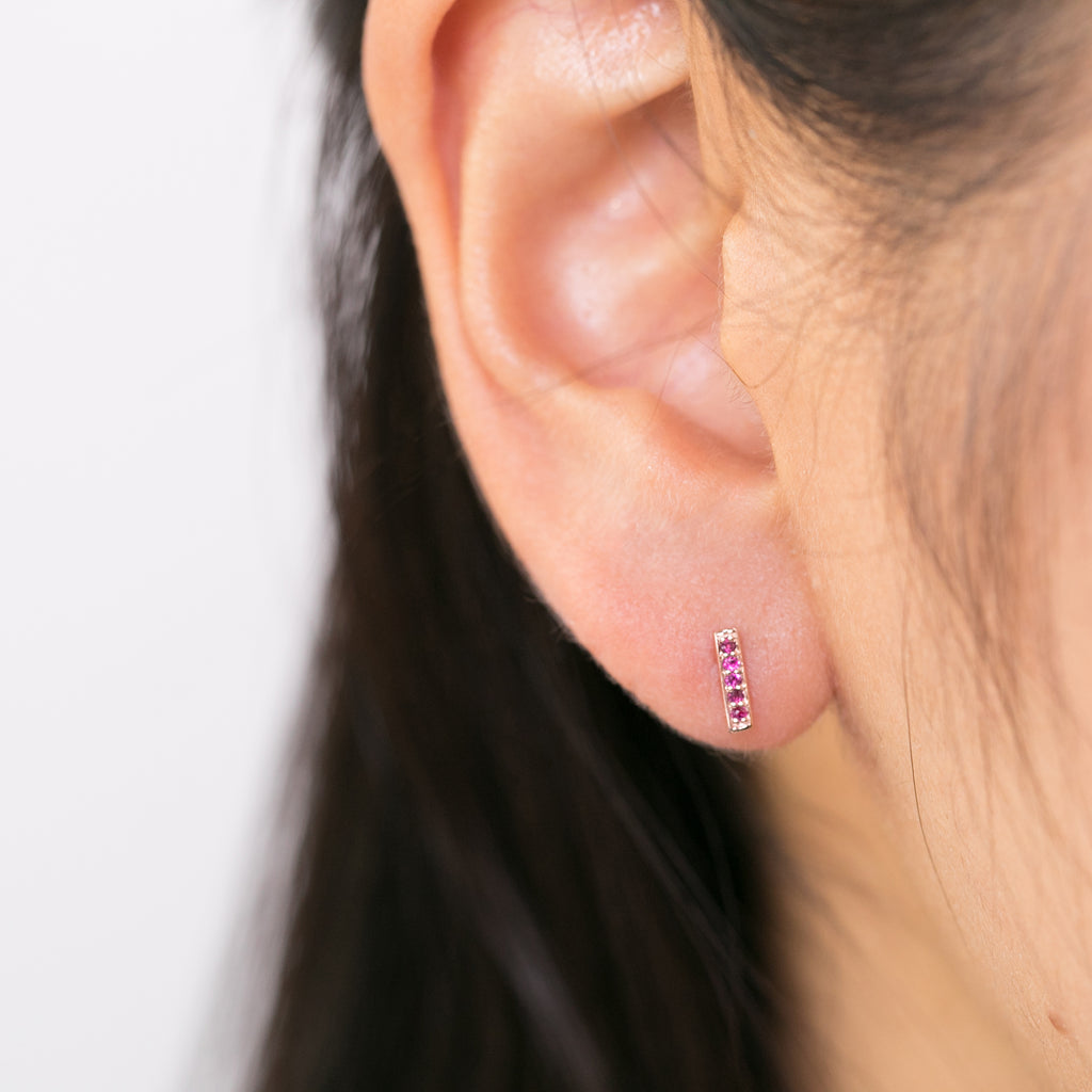 Bar Studs - Ruby Large