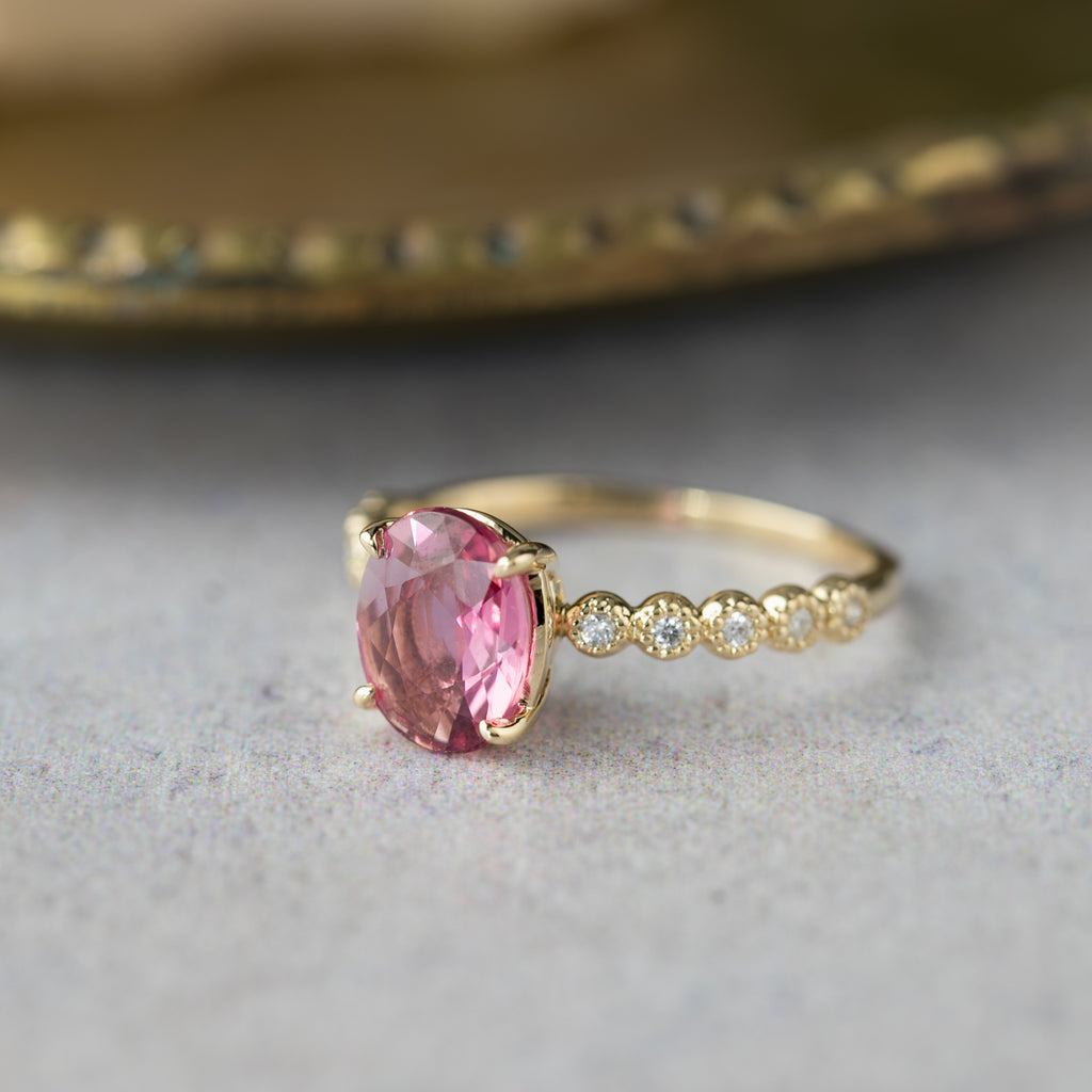 Amelie Ring -1.71ct Pink Tourmaline