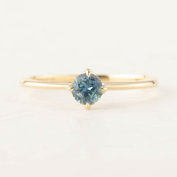 Alice Ring - 4.5mm Blue Montana Sapphire (One of a kind B)
