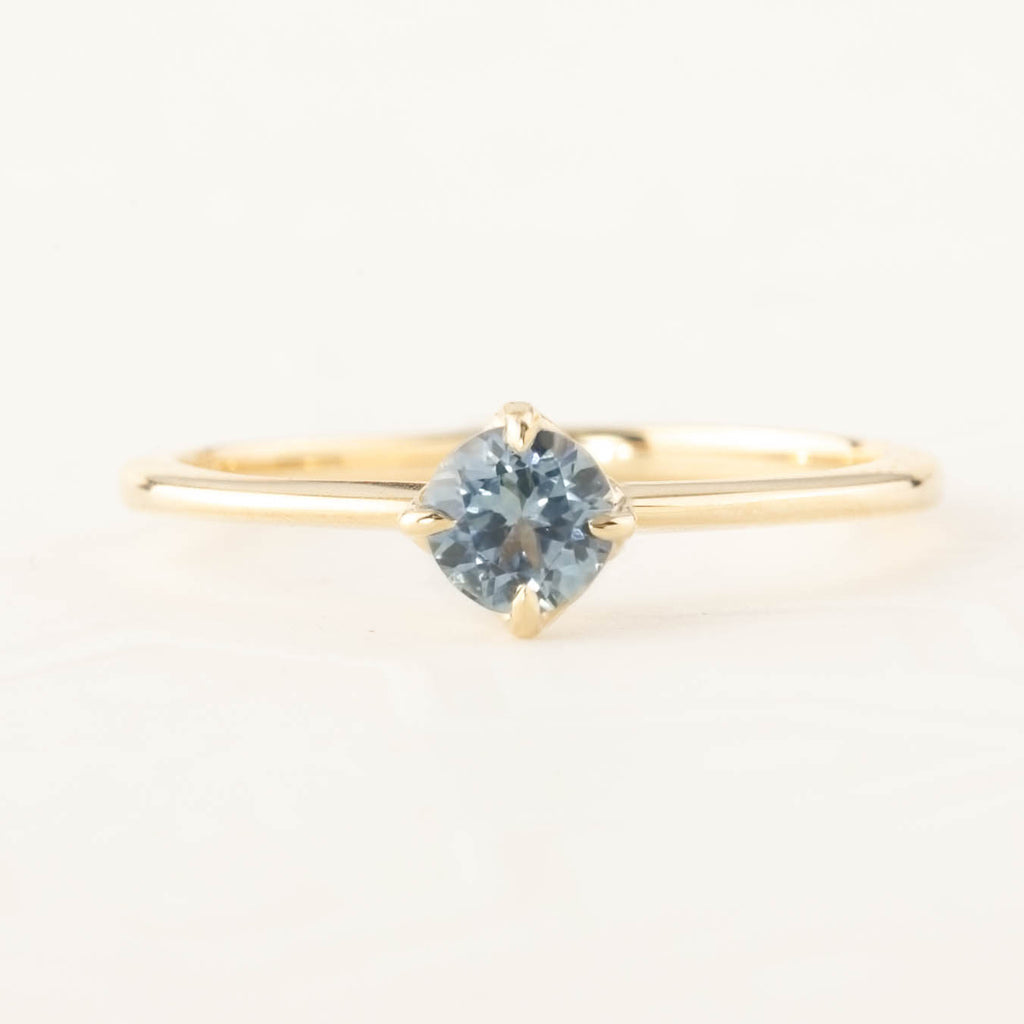 Alice Ring - 4.5mm Sky-blue Montana Sapphire (One of a kind)