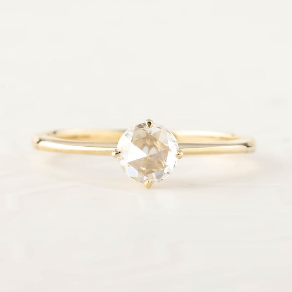 Alice Ring - Round Rose Cut Diamond