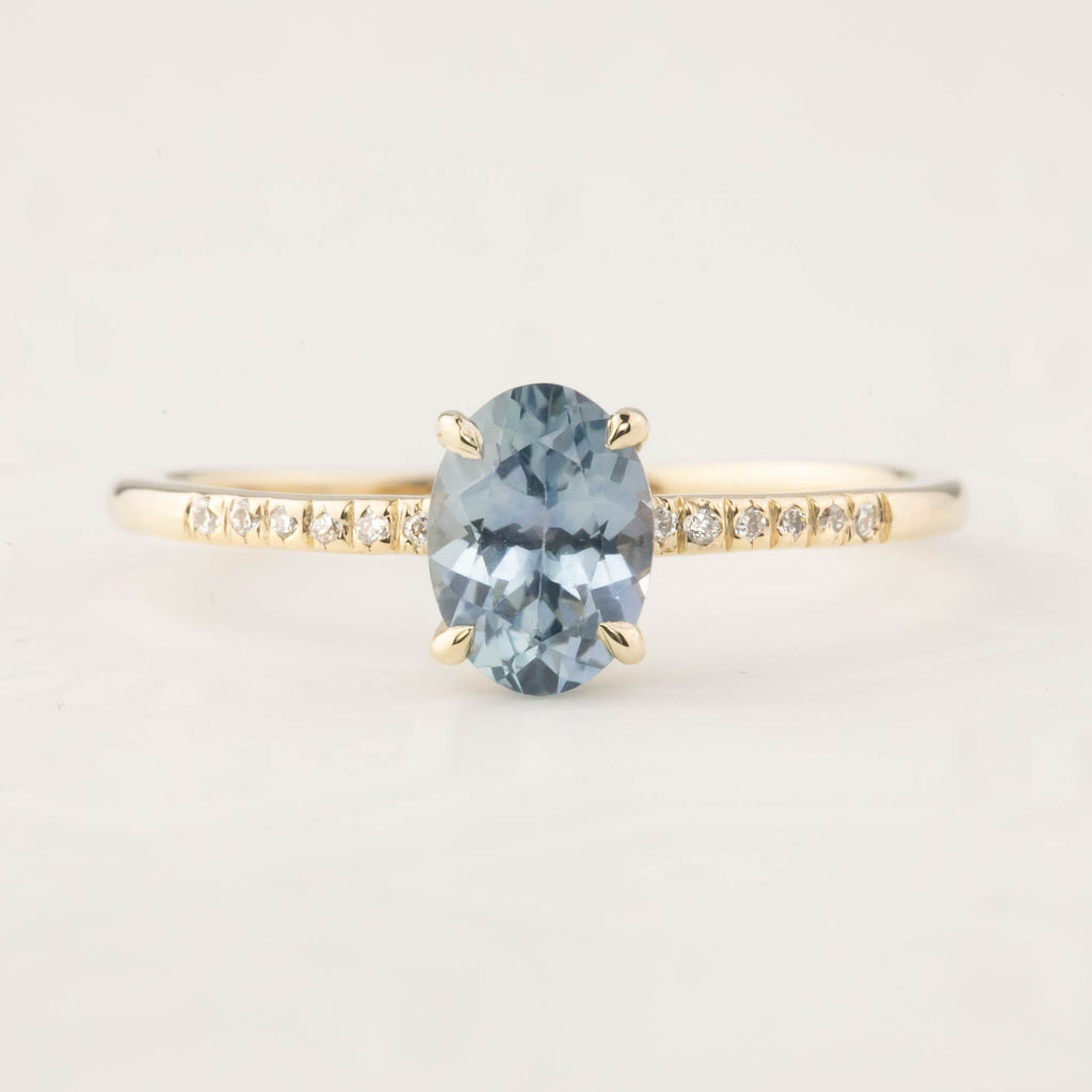Audrey Ring - 1.04ct Montana Sapphire (One of a kind)