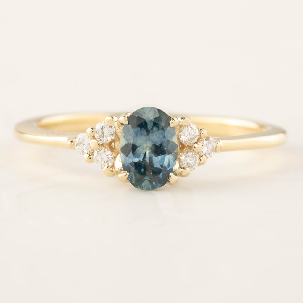 Teresa Ring - 0.6ct Blue Green Montana Sapphire (One of a kind)