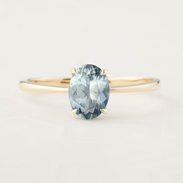 Nina Ring -1.26ct Light Blue Montana Sapphire (One of a kind)