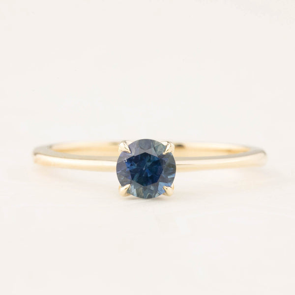 Sara Ring - 0.66ct Teal Montana Sapphire (One of a kind)