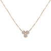Dahlia  Trio Diamond Necklace