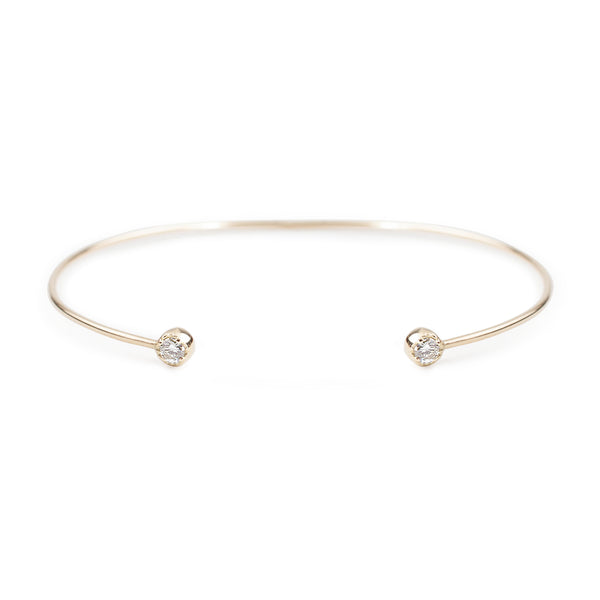 Dahlia Diamond Open Cuff Bracelet